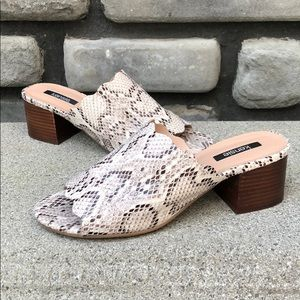 Snake Print Slip On Sandals EUC Kensie sz 10